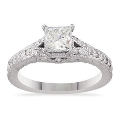 14k White Gold Diamond Engagement Ring 1.25ctw