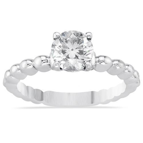 14k White Gold Engagement Ring 1.13ctw