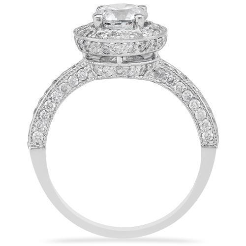 14K  White Gold Engagement Ring 1.44ctw