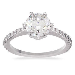 14k White Gold Round Diamond Engagement Ring 1.93ctw