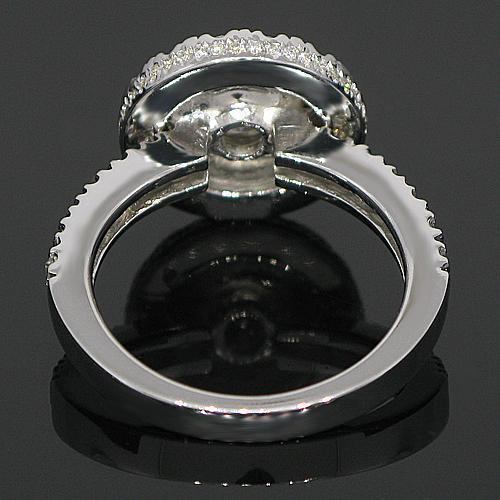 14K White Solid Gold Diamond Engagement Ring 2.32 Ctw