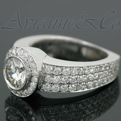 14K White Solid Gold Mens Diamond Ring 5.08 Ctw