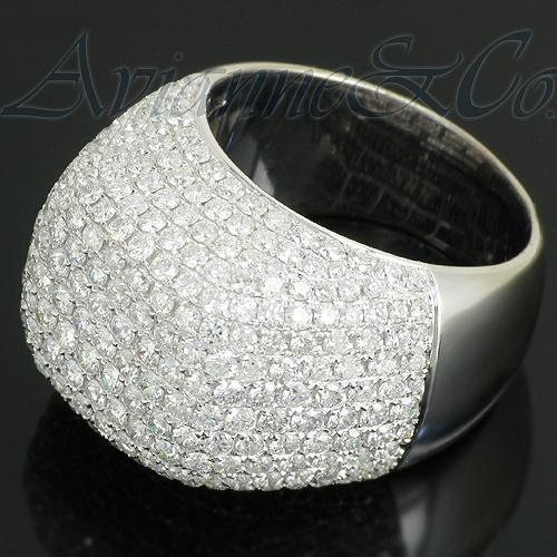14K White Solid Gold Mens Diamond Ring 7.93 Ctw