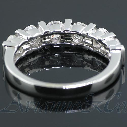 14K White Solid Gold Womens Diamond Wedding Ring Band 1.25 Ctw