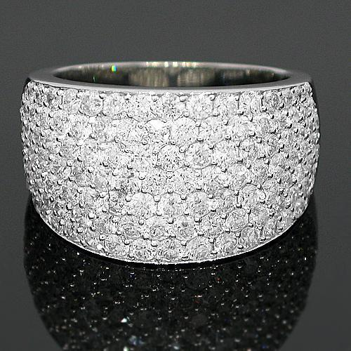 14K White Solid Gold Womens Diamond Wedding Ring Band 2.79 Ctw