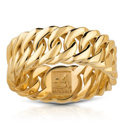 14k Yellow Gold Cuban Ring