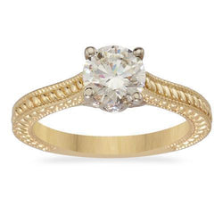 14k Yellow Gold Diamond Engagement Ring 1.33ctw