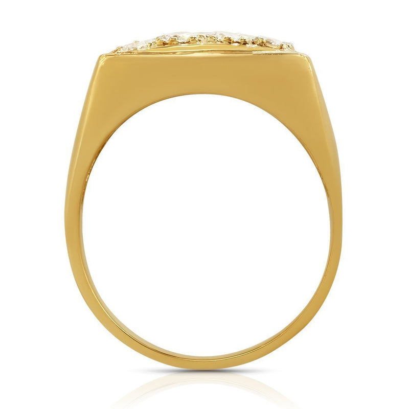 14K Yellow Gold Mens Diamond Ring 2.50 Ctw