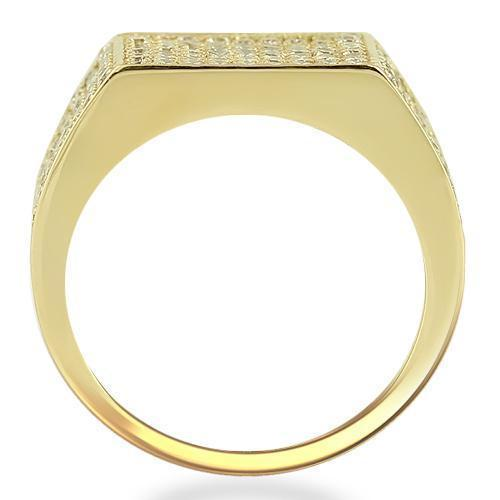 14K Yellow Solid Gold Mens Diamond Pave Set Pinky Ring 2.50 Ctw