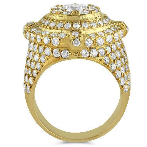 14K Yellow Solid Gold Mens Diamond Pinky Ring 3.25 Ctw