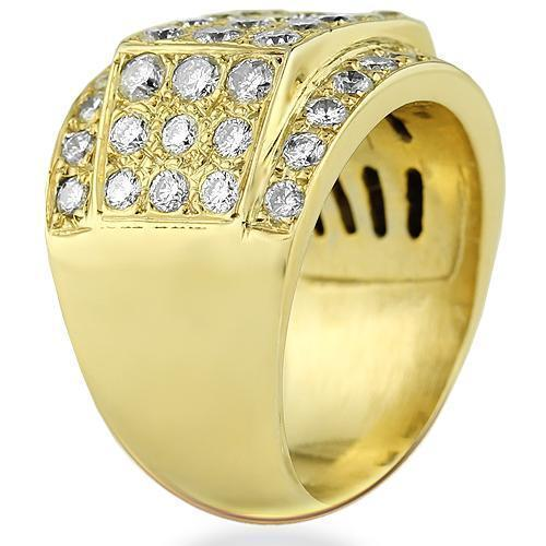 14K Yellow Solid Gold Mens Diamond Pinky Ring 4.00 Ctw