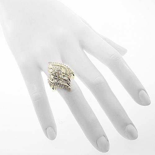 14K Yellow Solid Gold Womens Diamond Cocktail Ring 2.50 Ctw