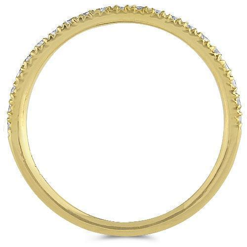 14K Yellow Solid Gold Womens Diamond Wedding Ring Band 0.50  Ctw
