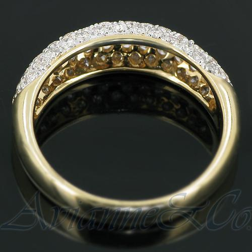 14K Yellow Solid Gold Womens Diamond Wedding Ring Band 1.03 Ctw
