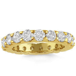14K Yellow Solid Gold Womens Diamond Wedding Ring Band 3.00 Ctw