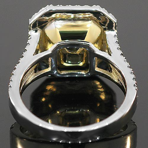 18K White Solid Gold Diamond Engagement Ring 6.40 Ctw