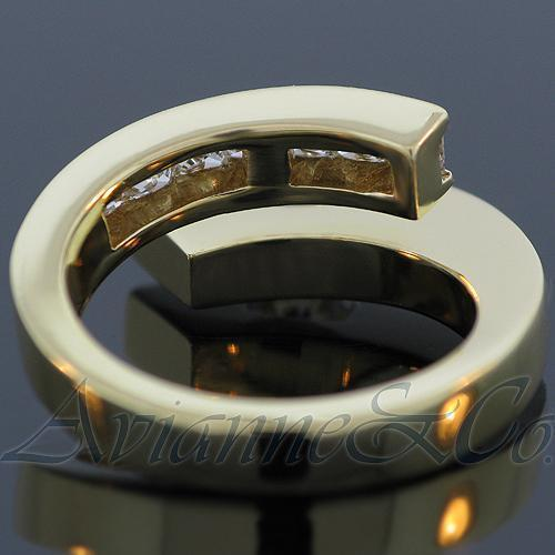 18K Yellow Solid Gold Womens Diamond Ring 1.75 Ctw