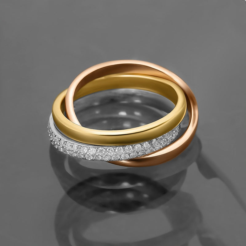 3 Rings in 14k Gold .79 Ctw