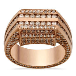 Diamond Channel Set Pinky Ring in 14k Rose Gold 5.50 Ctw