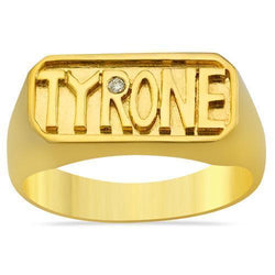 "Diamond Custom ""Tyrone"" Ring in 18k Yellow Gold 0.50 Ctw"