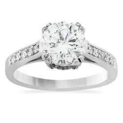 Diamond Engagement Ring in 14k White Gold 1.8 Ctw