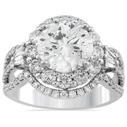 Diamond Engagement Ring in 18k White Gold 4 84 Ctw