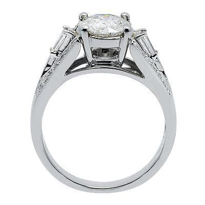 Diamond Engagement Ring in Solid White Gold'