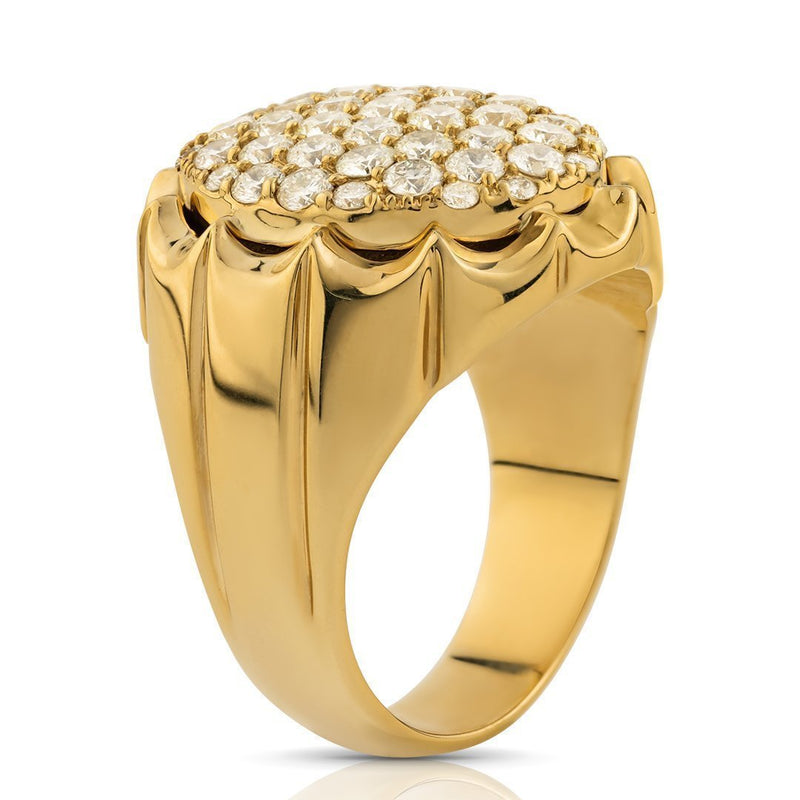 Diamond Pinky Ring in 14k Yellow Gold 2.50 Ctw