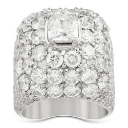 b0dc52e3236ee4 Diamond Pinky Ring with Cushion Cut Center Stone in 14k White Gold 6.4 –  Avianne Jewelers