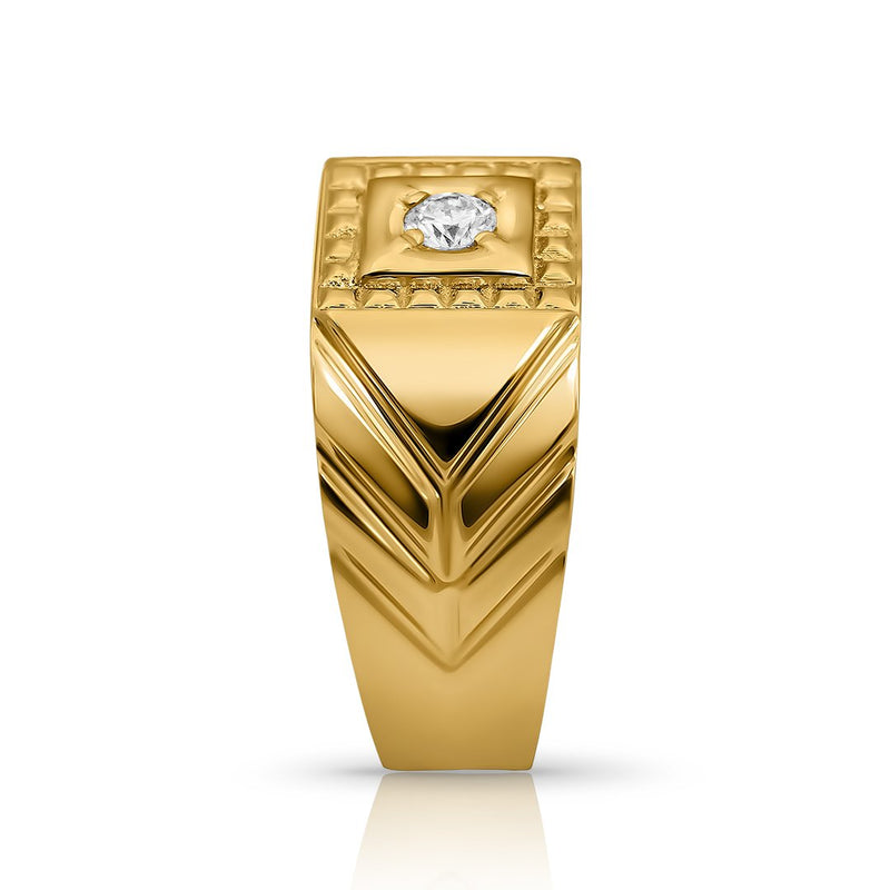 Diamond Vintage Pinky Ring in 14k Yellow Gold 3.25 CTW