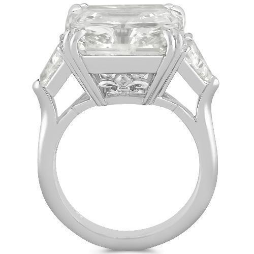 Gorgeous Platinum EGL Certified Diamond Womens Ring 17.18 Ctw