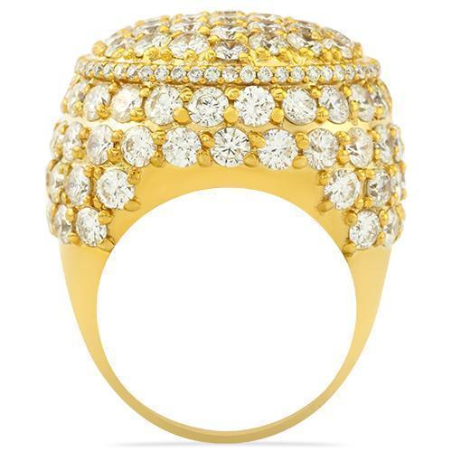 Mens Diamond Pinky Ring 14k Yellow Gold 10.65 Ctw