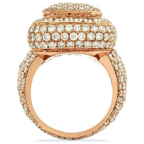 Mens Diamond Pinky Ring in 14k Rose Gold 9.50 Ctw
