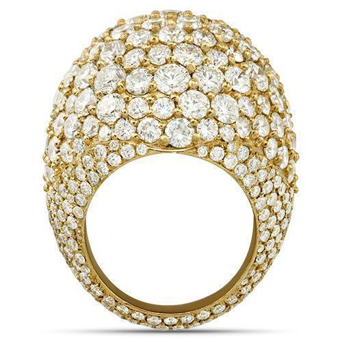 Mens Diamond Pinky Ring in 14k Yellow Gold 15 Ctw