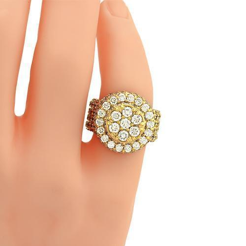 Mens Diamond Pinky Ring in 14k Yellow Gold 9.68 Ctw