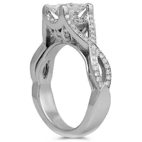 Platinum 950 Diamond Custom Engagement Ring 1.92 Ctw
