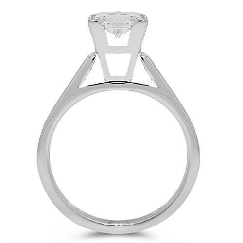 Platinum Clarity Enhanced Diamond Solitaire Engagement Ring 2.02 Ctw