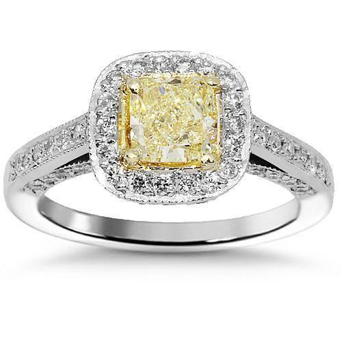 Platinum Diamond Engagement Ring 1.89 Ctw