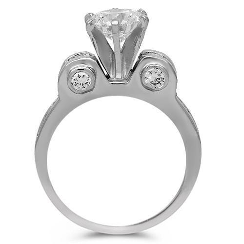 Platinum Diamond Engagement Ring 1.94 Ctw