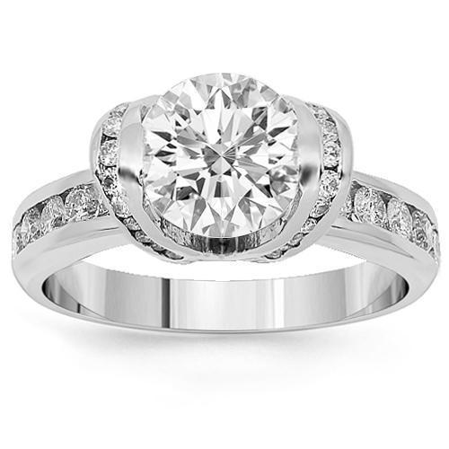 Platinum Diamond Engagement Ring 2.88 Ctw