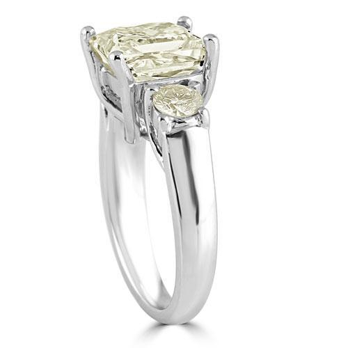 Platinum Diamond Engagement Ring 5.53 Ctw