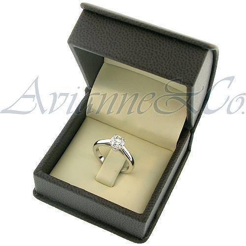Platinum Diamond Solitaire Engagement Ring 0.79 Ctw