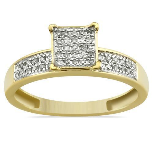 Yellow Diamond Wedding Band Set 10K Yellow Gold 0.50 Ctw