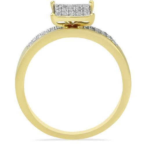 Yellow Diamond Wedding Band Set in 10K Yellow Gold 0.76 Ctw