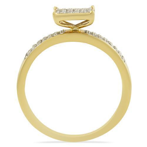 Yellow Diamond Wedding Band Set in 10K Yellow Gold 1.06 Ctw