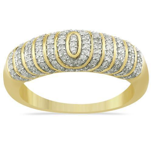 Yellow Diamond Wedding Band Set in 10K Yellow Gold 1.17 Ctw