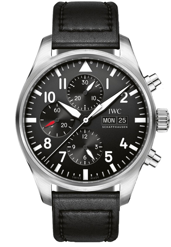 IWC Pilot Automatic Chronograph Black Dial 41MM Watch IW377709