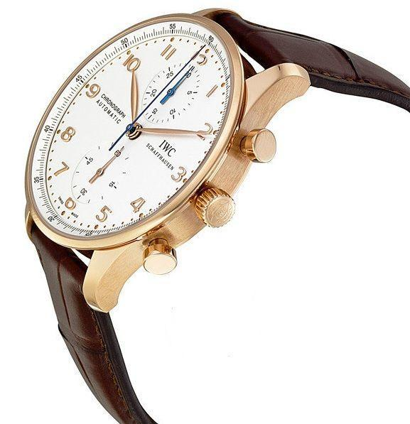 IWC Portugieser Automatic Rose Gold Silver Dial 41MM Watch IW371480