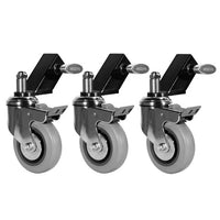 WHEELS FOR MAMBO STANDS (SET OF 3 WHEELS & SLIP ON ADAPTERS)