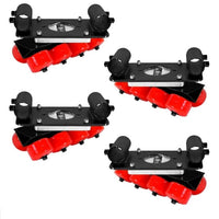 SKATEBOARD WHEEL SPEED-RAIL® SETUP (SET OF 4) WITH 8 WHEEL PER CORNER